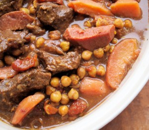 A Seasonal Slow Sunday Supper: Aromatic Beef and Quince Tagine with Pomegranate