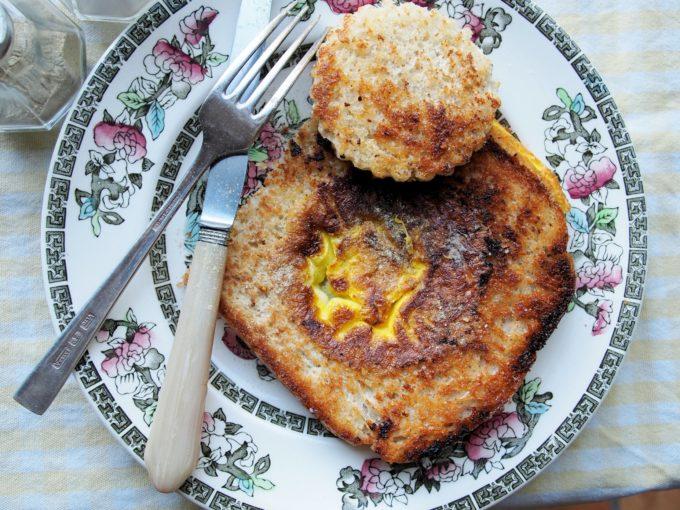 Egg in a Nest: WW2 Mock Fried Egg