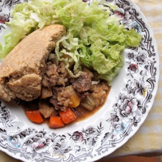The Wartime Kitchen, Day Six and Scottish Vegetable & Meat Pudding Recipe