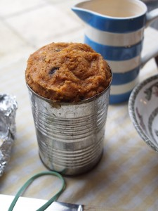 Spiced Fruit Roll in a Baked Beans Tin