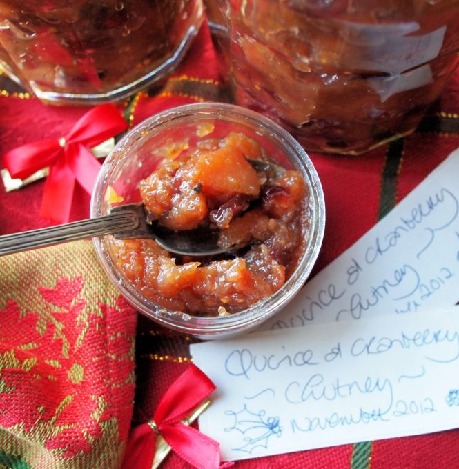 Spiced Quince and Cranberry Chutney