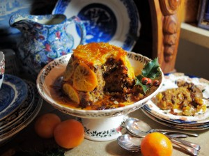 Clementine and Brandy Fruit Pudding
