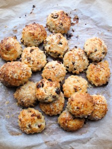 Mini Cheese, Cranberry and Walnut Scones