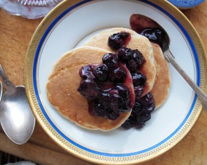 Blueberry & Oat Pancakes with Cinnamon (5:2 Diet)