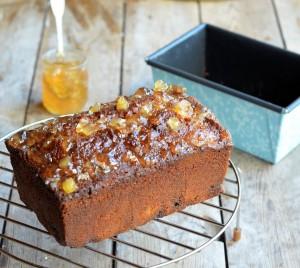 Sticky Ginger Marmalade Tea Loaf
