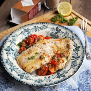 Recipe: Wild Haddock with Smoked Sea Salt Crust and Cherry Tomato Scramble