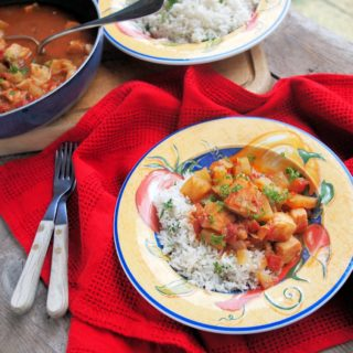 5:2 Diet Fast Day Recipe: Spicy Fish Creole with Coconut Lime Rice for Fish on Friday