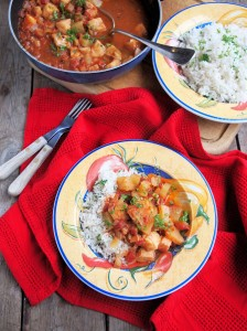 Spicy Fish Creole with Coconut Lime Rice