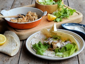Spicy Mexican Fish Wraps