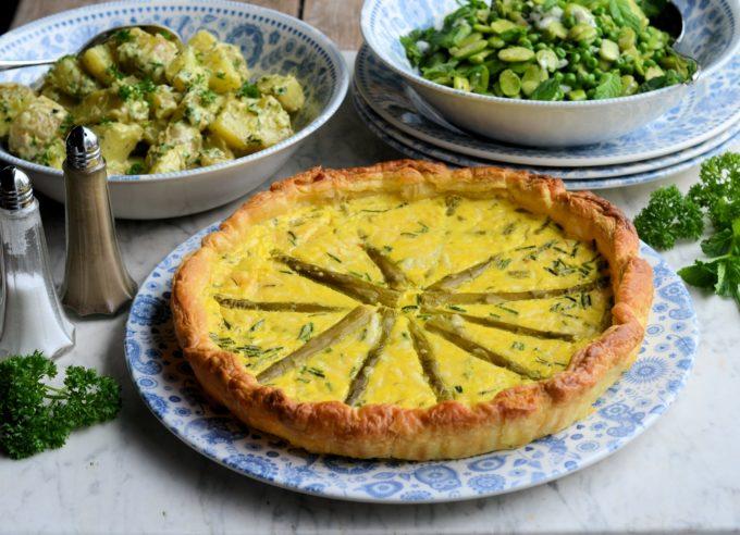 Two Cheese Asparagus Tart