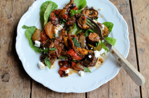 Autumn Roast Vegetable & Cheese Salad (Low Calorie)