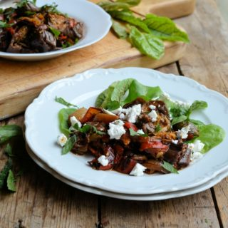 Fasting on Saturday before Feasting on Sunday: 5:2 Diet Autumn Roast Vegetable & Cheese Salad