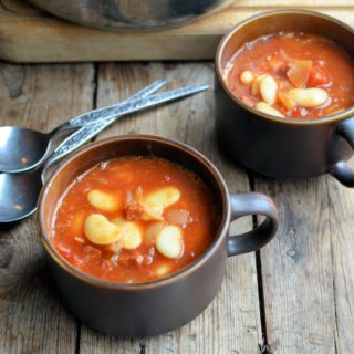 A Hearty 5:2 Diet Recipe for Autumn: Butter Bean & Chorizo Stew with Tomatoes