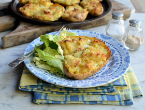 Cheesy Stuffed Supper Spuds (Jacket Potatoes)