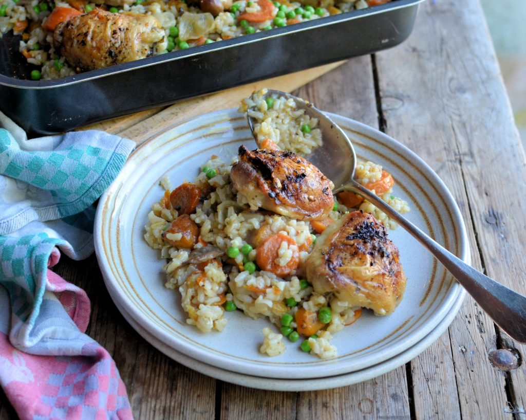 Best Of British Bloggers Oven Baked Chicken Thigh Risotto With Dom And Belleau Kitchen