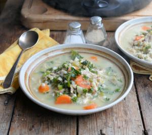 Slow Cooker Turkey & Kale Scotch Broth