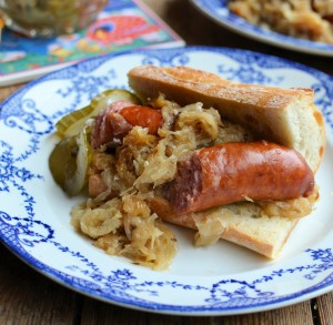 Polish Sausage and Sauerkraut Casserole with Beer