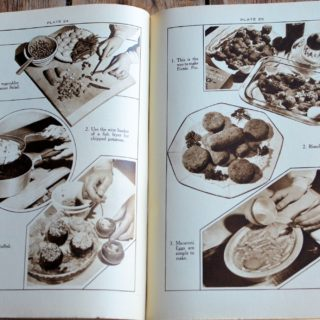 """Vintage """"Round-the-Clock"""" Cookbook and Heirloom Weights & Measures Conversion Chart"""