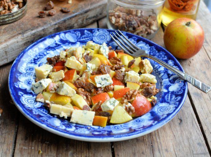 English Apple and Walnut Salad