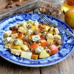 St George's Day, Sausages, Heck, Salad, Apples, Walnuts, Blue Stilton, Karen S Burns-Booth, Lavender and Lovage