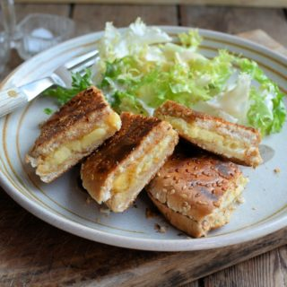 Garlic Bread Cheese Toastie (Grilled Cheese) for The Secret Recipe Club