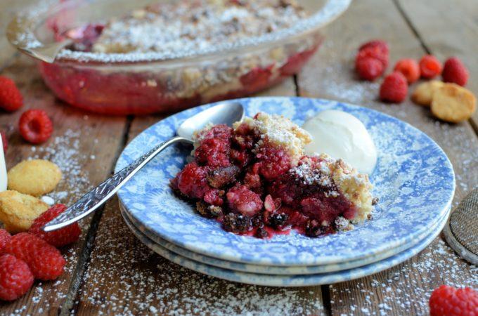 Raspberry & Almond Crisp