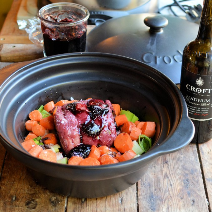 Slow Cooked Beef Brisket with an Elderberry & Port Glaze