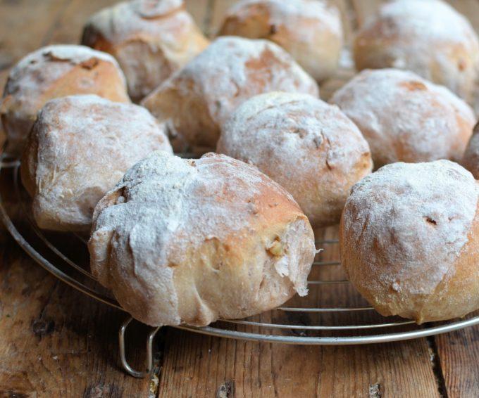 Country Style Walnut Bread Rolls