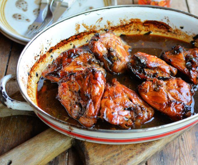 Sticky Christmas Marmalade Chicken