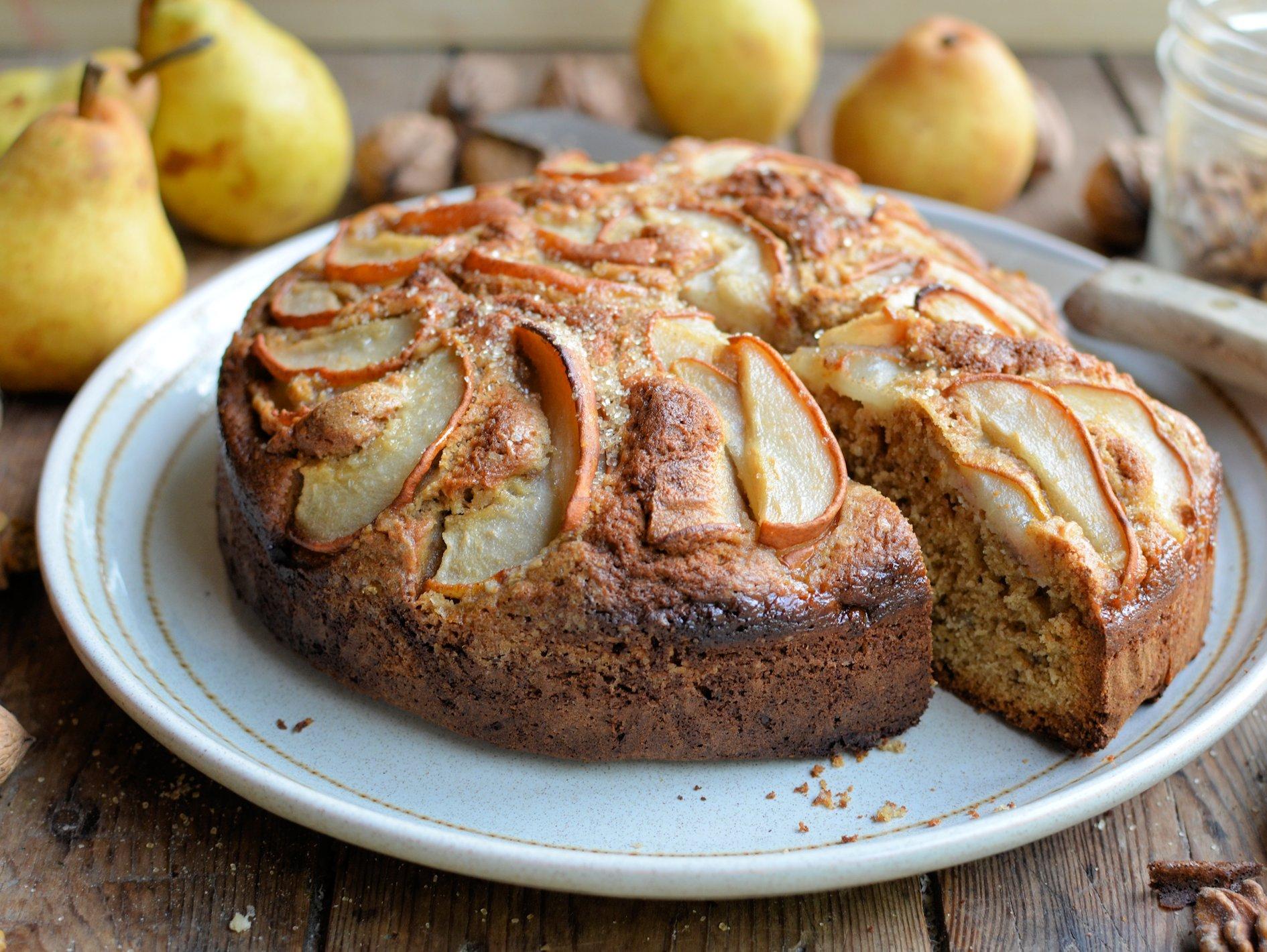 Thrifty & Organic November: Pear & Walnut Cake, Sausage Cabbage Rolls and Celeriac Gratin