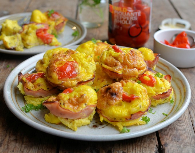 Ham and Egg Peppadew Pepper Cups