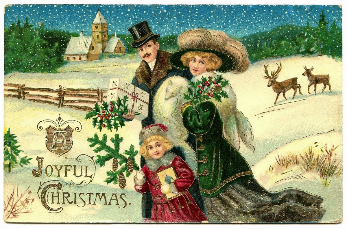 victorian-christmas-cards- Lavender and Lovage