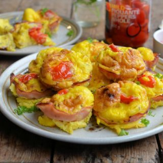 Clueless in France! Mini Ham, Cheese and Pepper Frittatas