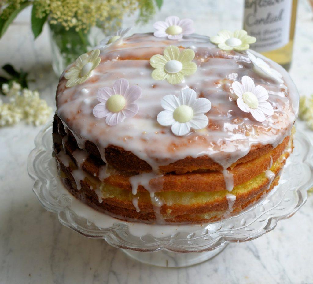 Apple Lemon And Elderflower Drizzle Cake Lavender And Lovage