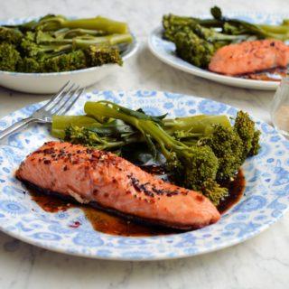 Easy Balsamic, Honey & Chilli Salmon