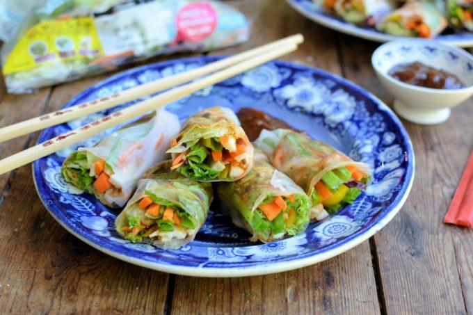 Vietnamese Rainbow Vegetable Summer Rolls