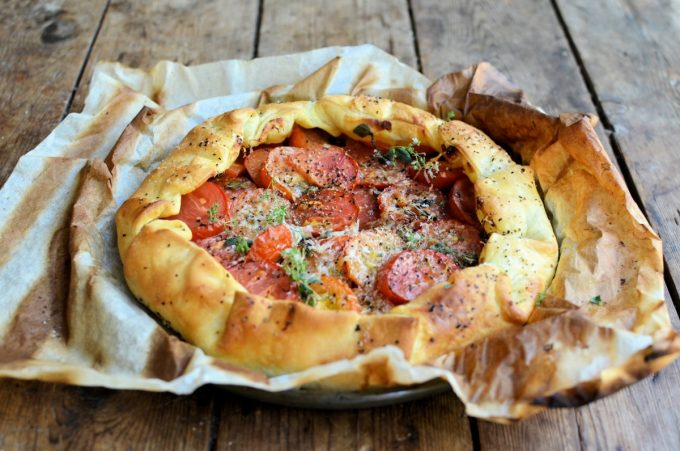 Heirloom Tomato, Cheese & Herb Galette