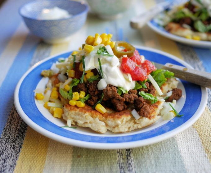 Indian Tacos with Fry Bread Bannocks