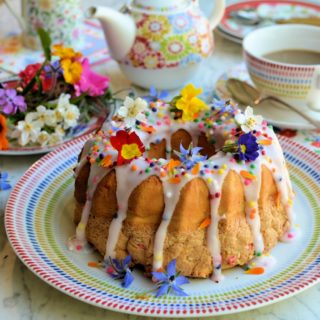 "Confetti ""Funfetti"" Chiffon Cake for Easter Sunday Tea"
