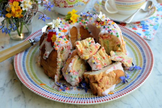 """""""Funfetti"""" Confetti Chiffon Cake"""