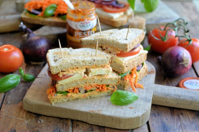 Toasted Veggie Club Sandwich