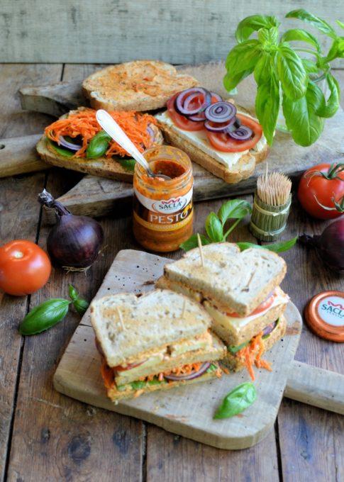Toasted Veggie Club Sandwich