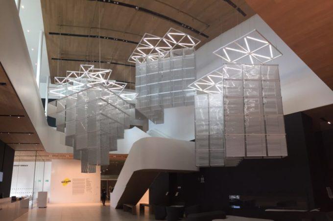The entrance atrium of the Remai Modern art gallery in Saskatoon