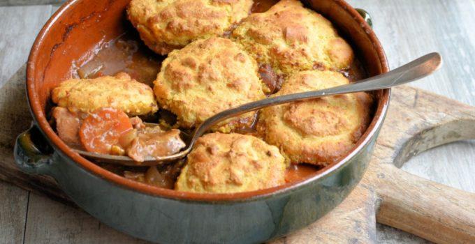 Welsh Lamb Cornbread Cobbler