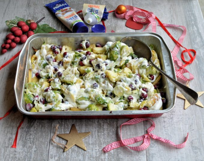 Parsnip, Potato & Sprouts Cheese Gratin