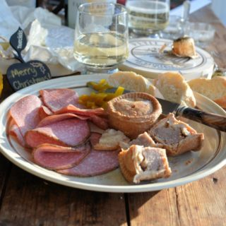 Festive Ploughman's Lunch with Apple Cuvée
