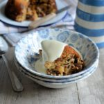 """Baked """"Cake Crumb"""" Mincemeat Pudding - Based on the traditional College Pudding, this pudding uses Panettone cake crumbs as part of the ingredients, as well as mincemeat, all left over from Christmas; serve with vanilla custard for a delicious & thrifty winter pudding."""