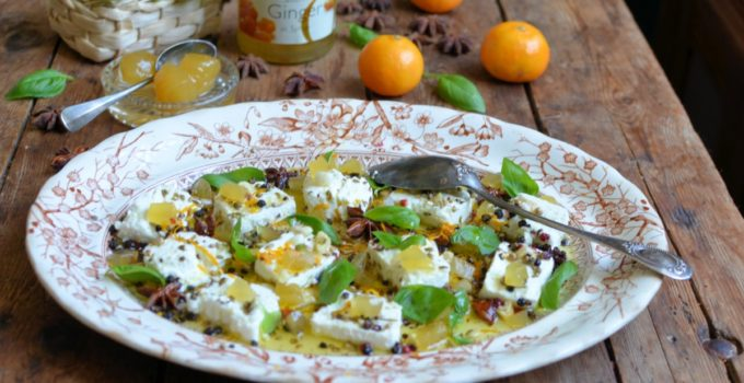 Marinated Goats Cheese with Stem Ginger