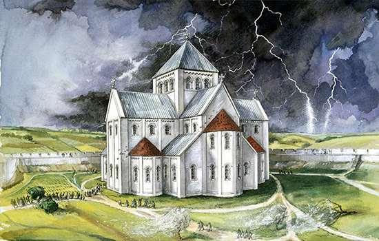 Old Sarum Cathedral Image English Heritage