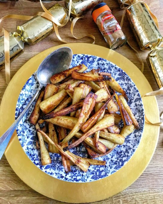 By adding a buttery coating alongside sweet cinnamon, sugar and lemon zest this amplifies seasonal parsnips into something rather special.